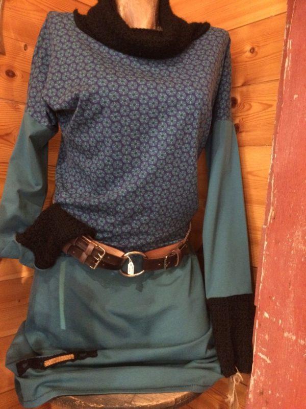 Robe Alpaga et tissu Canard et noire – Hiver