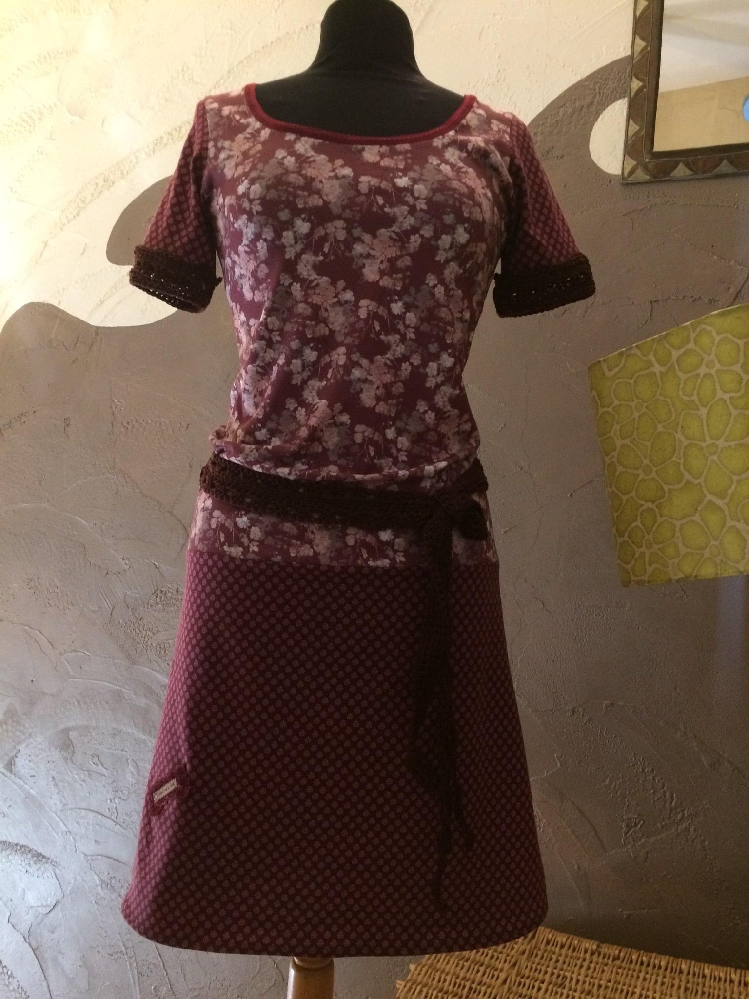 Robe Framboise et bordeaux