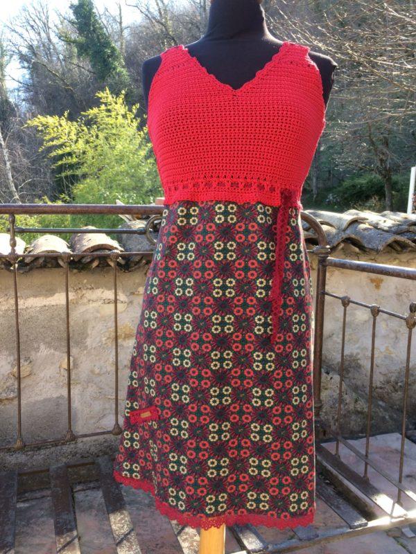 Robe Coton Rouge et cèdre – Eté :