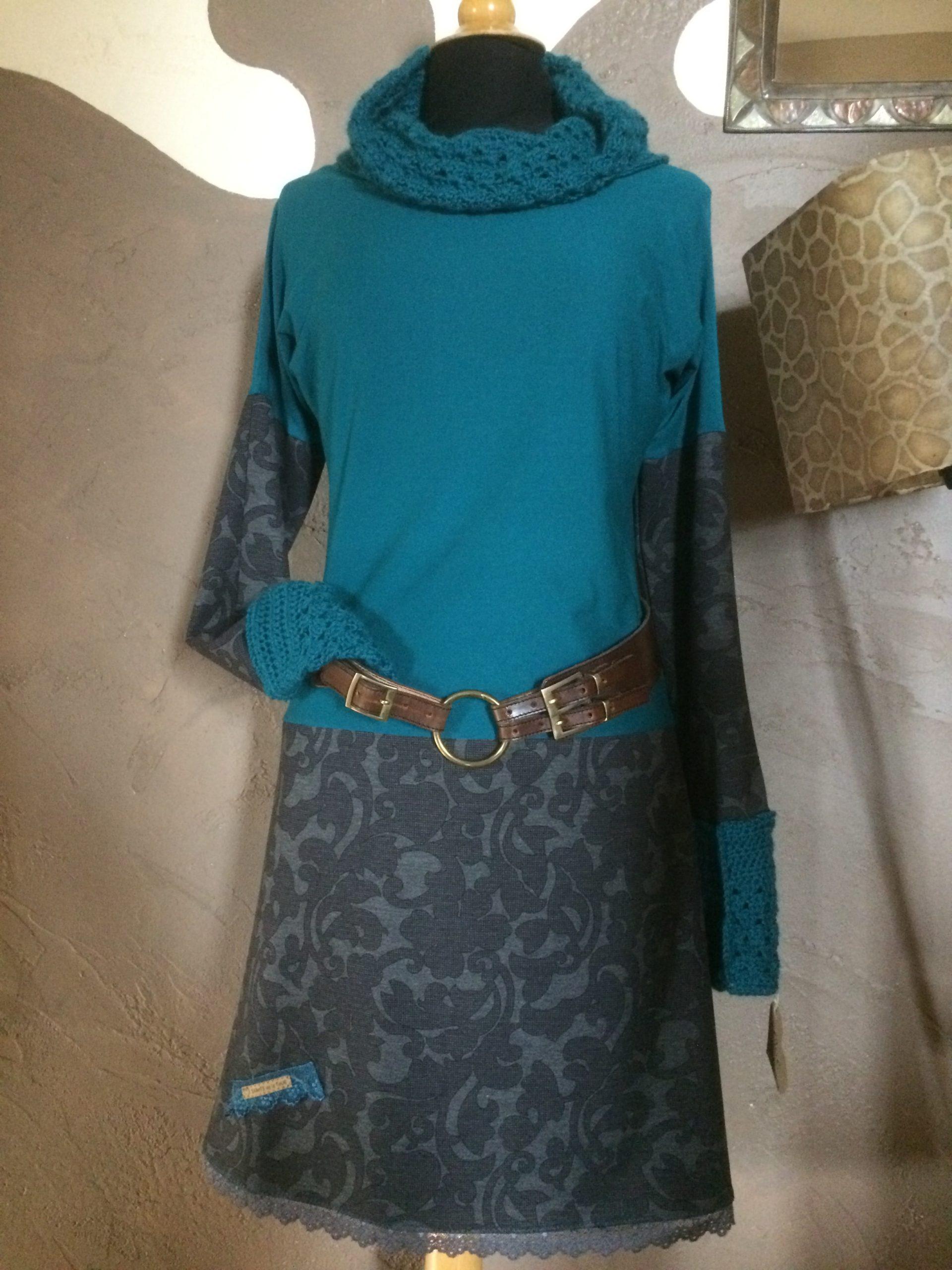 Robe Tissu et Alpaga canard